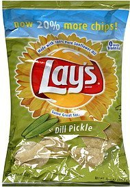flavored potato chips dill pickle Lays Nutrition info