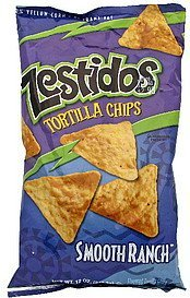 flavored tortilla chips smooth ranch Zestidos Nutrition info