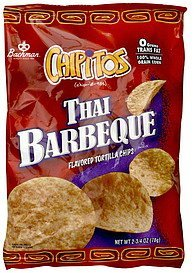 flavored tortilla chips thai barbeque Chipitos Nutrition info