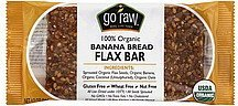 flax bar banana bread, 100% organic Go Raw Nutrition info