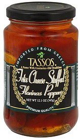 florinas peppers feta cheese stuffed Tassos Nutrition info