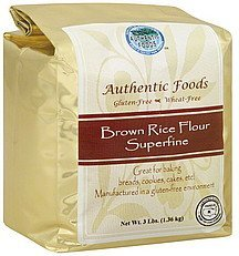 flour brown rice, superfine Authentic Foods Nutrition info