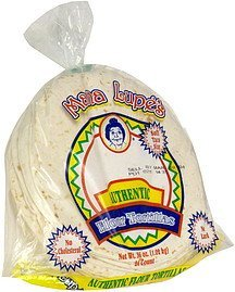 flour tortillas soft taco style Mama Lupe's Nutrition info