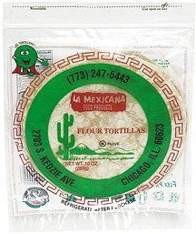 flour tortillas La Mexicana Nutrition info