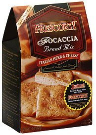 focaccia bread mix italian herb & cheese Frescorti Nutrition info