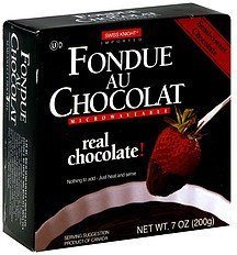 fondue au chocolat semi-sweet chocolate Swiss Knight Nutrition info
