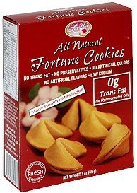 fortune cookies all natural Luv Yu Nutrition info