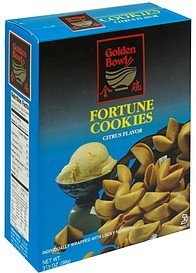 fortune cookies citrus flavor Golden Bowl Nutrition info