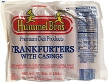 frankfurters with casings Hummel Bros. Nutrition info