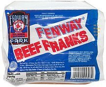 franks beef Fenway Nutrition info