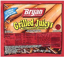 franks grilled juicys Bryan Nutrition info