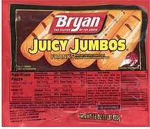 franks juicy jumbos Bryan Nutrition info