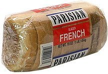 french bread sliced Parisian Nutrition info