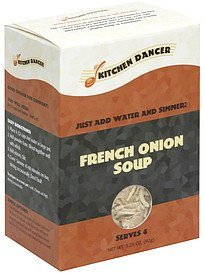 french onion soup Kitchen Dancer Nutrition info