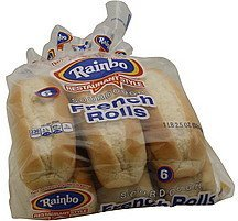 french rolls sourdough Rainbo Nutrition info
