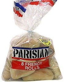 french rolls Parisian Nutrition info