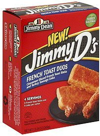 french toast duos Jimmy Dean Nutrition info