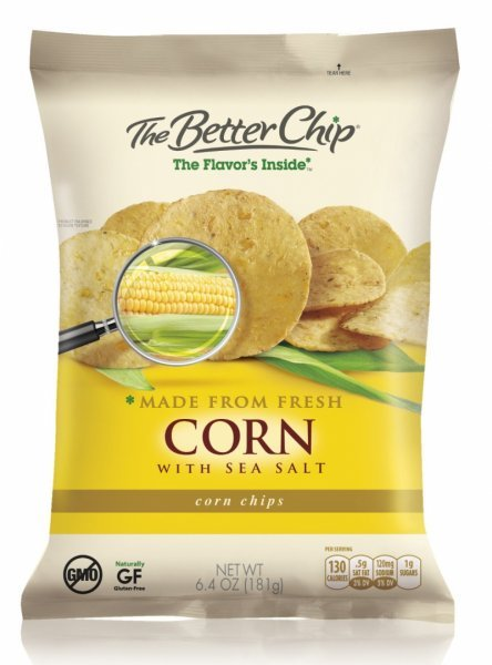fresh corn and sea salt tortilla chips The Better Chip Nutrition info