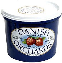 fresh fruit preserves strawberry Danish Orchards Nutrition info