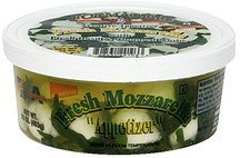 fresh mozzarella with fresh basil & chopped garlic Formaggio Nutrition info