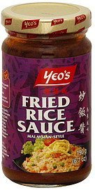 fried rice sauce malaysian-style Yeos Nutrition info