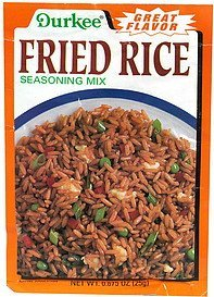 fried rice seasoning mix Durkee Nutrition info