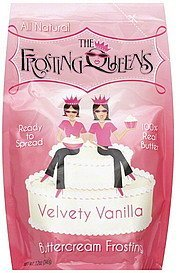frosting buttercream, velvety vanilla Frosting Queens Nutrition info