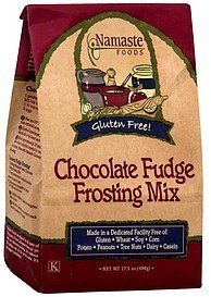 frosting mix chocolate fudge Namaste Foods Nutrition info