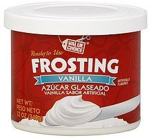 frosting vanilla Value Choice Nutrition info