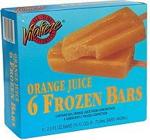 frozen bars orange juice Vitafreze Nutrition info