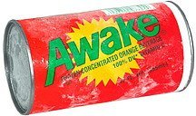 frozen concentrated beverage, orange Awake Nutrition info