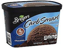 frozen dairy dessert chocolate Breyers Nutrition info