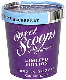 frozen yogurt limited edition, wild maine blueberry Sweet Scoops Nutrition info