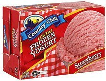 frozen yogurt low fat, strawberry Country Club Nutrition info