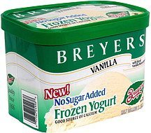 frozen yogurt vanilla with real vanilla bean specks Breyers Nutrition info