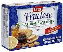fructose natural sweetener Estee Nutrition info