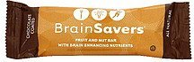 fruit and nut bar with brain enhancing nutrients, chocolate coated BrainSavers Nutrition info