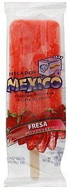 fruit bar strawberry Helados Mexico Nutrition info