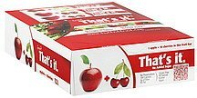 fruit bars apples + cherries Thats It Nutrition info