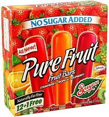 fruit bars assorted, no sugar added Breyers Nutrition info