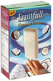 fruit bars coconut cream Fruitfull Nutrition info