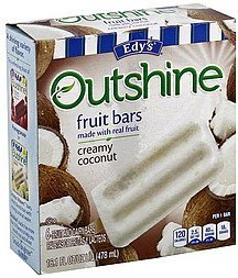 fruit bars creamy coconut Edys Nutrition info