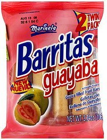 fruit bars guava filled Marinela Nutrition info