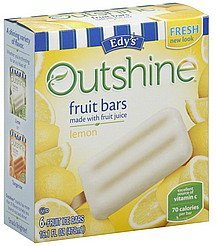 fruit bars lemon Edys Nutrition info