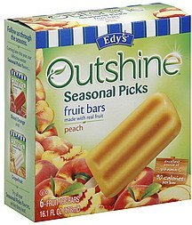 fruit bars peach Edys Nutrition info
