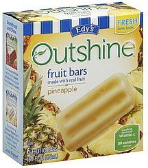 fruit bars pineapple Edys Nutrition info