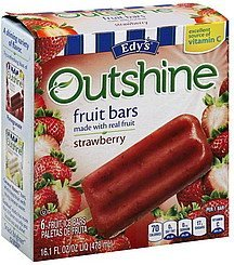 fruit bars strawberry Edys Nutrition info