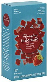 fruit bites strawberry Simply Balanced Nutrition info