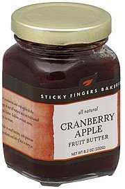 fruit butter cranberry apple Sticky Fingers Bakeries Nutrition info