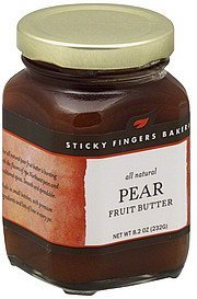 fruit butter pear Sticky Fingers Bakeries Nutrition info
